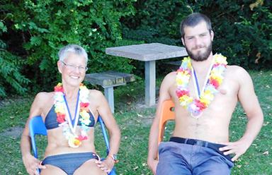 Beim 32. Schwimm-Marathon in Zürich haben auch die Rofkas aus Gmünd mitgemacht